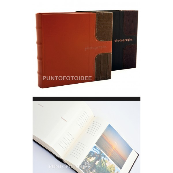 Foto album fotografico in ecopelle photographs 10x15 - Album portafoto 10x15 ...