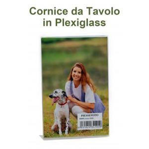 Cornice portafoto espositore in plexiglass da tavolo 15x20 for Cornici foto 15x20