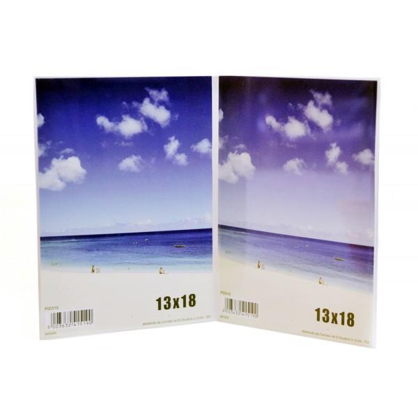 Cornice doppia in plexiglass - Portafoto da tavolo plexiglass ...
