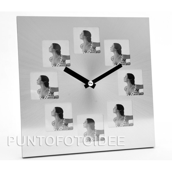 Orologio portafoto personalizzabile - Portafoto da tavolo ...